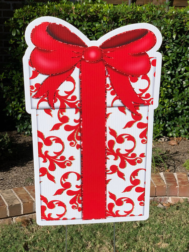 TALL RED GIFT BOX