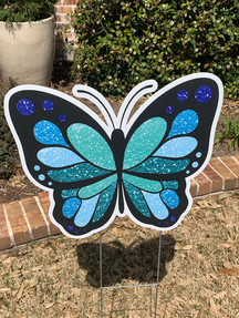 BLUE & TEAL BUTTERFLY