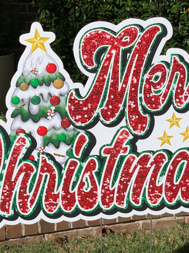 MERRY CHRISTMAS Large Sign