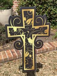 Gold & Black Cross