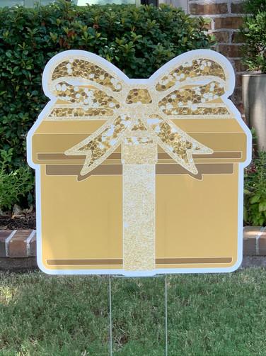 Gold Sparkle Present