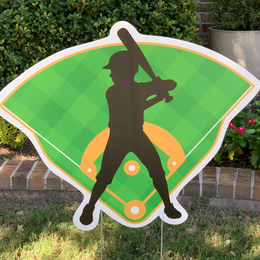 BASEBALL SILHOUETTE WITH FIELD