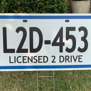 LICENSED 2 DRIVE PLATE - LARGE