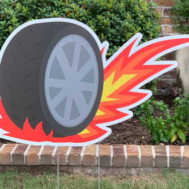 WHEEL FLAME W/ SPOKES