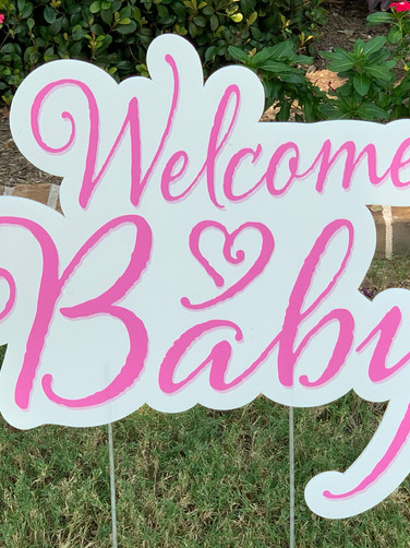 WELCOME BABY (PINK)