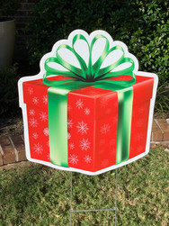 RED GREEN BOW GIFT BOX