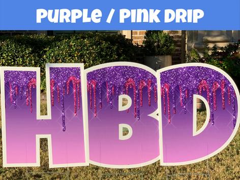 Purple-Pink Drip