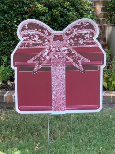 Maroon Sparkle Present