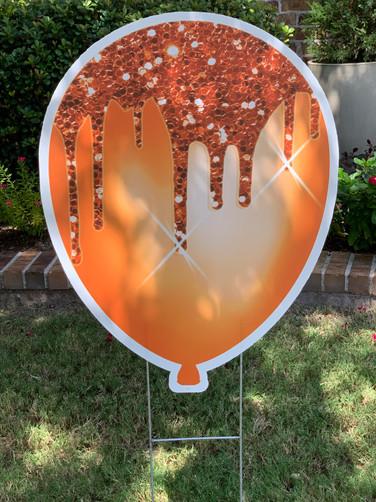 Orange Sparkle Balloon