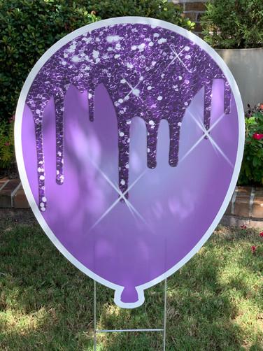 Purple Sparkle Balloon