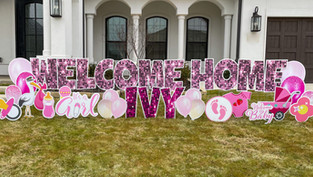 Welcome Home / New Baby Announcement Yard Sign Celebration