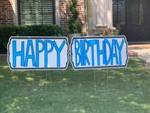 Happy Birthday (2 Sign - Blue)