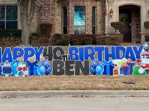 Birthday Yard Signs Frisco