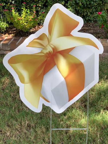 GOLD WHITE GIFT BOX