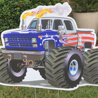 AMERICAN FLAG MONSTER TRUCK