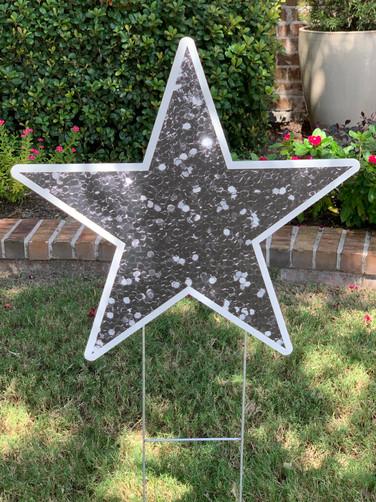 Silver Glitter Star