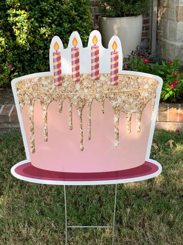 PINK GOLD GLITTERY CAKE