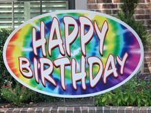 Happy Birthday - Tie Dye (Rainbow)