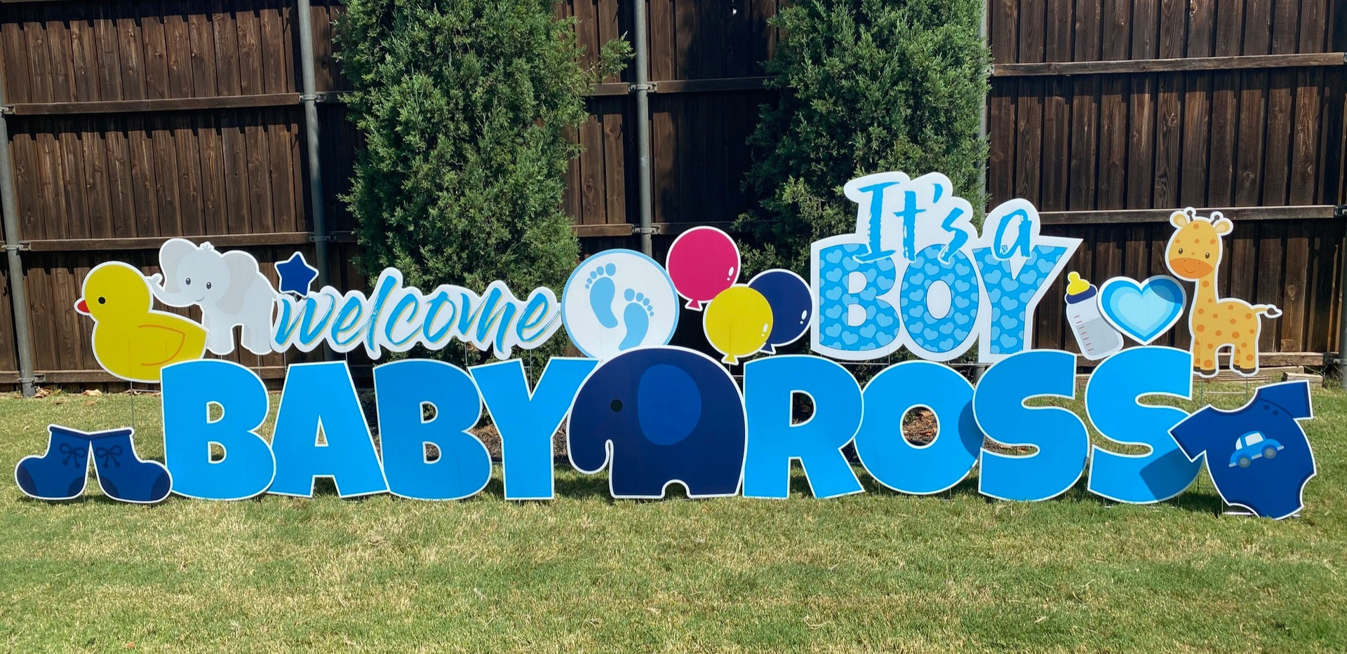 Baby Boy - It's a Boy Sign and Bright Blue