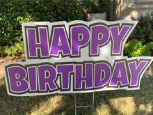 Happy Birthday - Purple