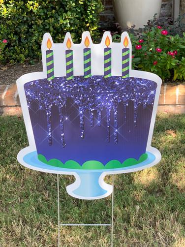BLUE GLITTERY CAKE
