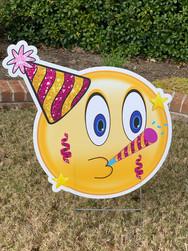 Celebration Emoji - Pink/Yellow