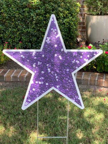 Purple Glitter Star