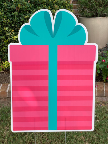 PINK AND TEAL GIFT BOX