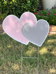 PINK GREY HEARTS