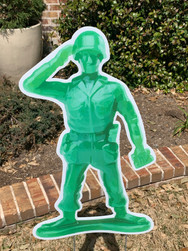 Toy Soldier Saluting