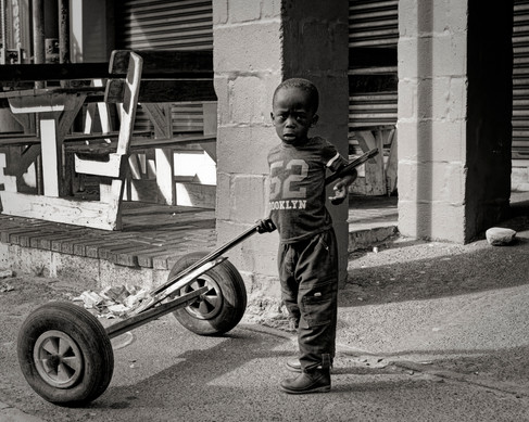 Young Child Early Morning SA Township