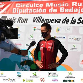 El Circuito Music Run 2021 se cerró en Villanueva de la Serena