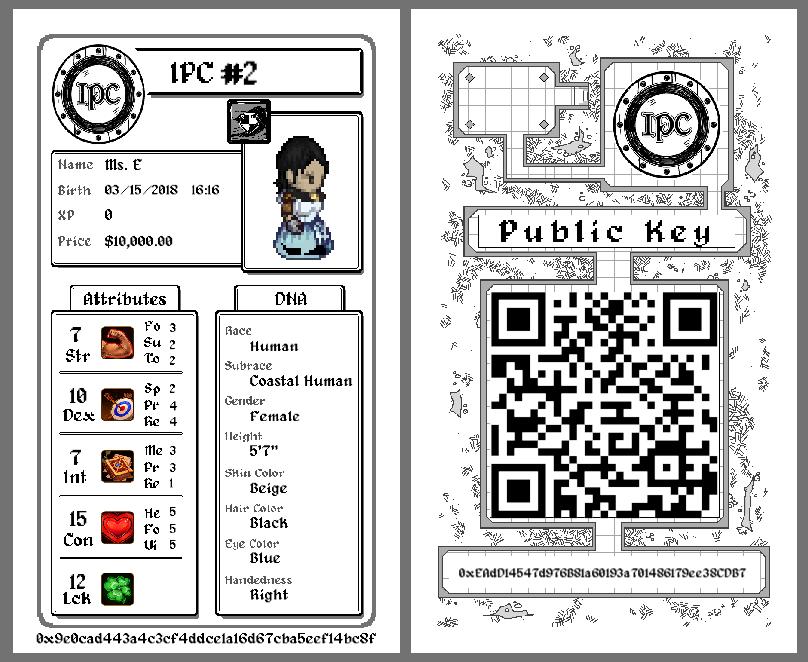 Physical IPC character sheet