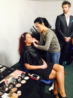 In make up for Sikh TV interview