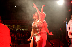 Performing Gimme gimme in Wales