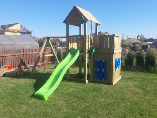 Bērnu rotaļu laukums Mansion Playhouse Swing