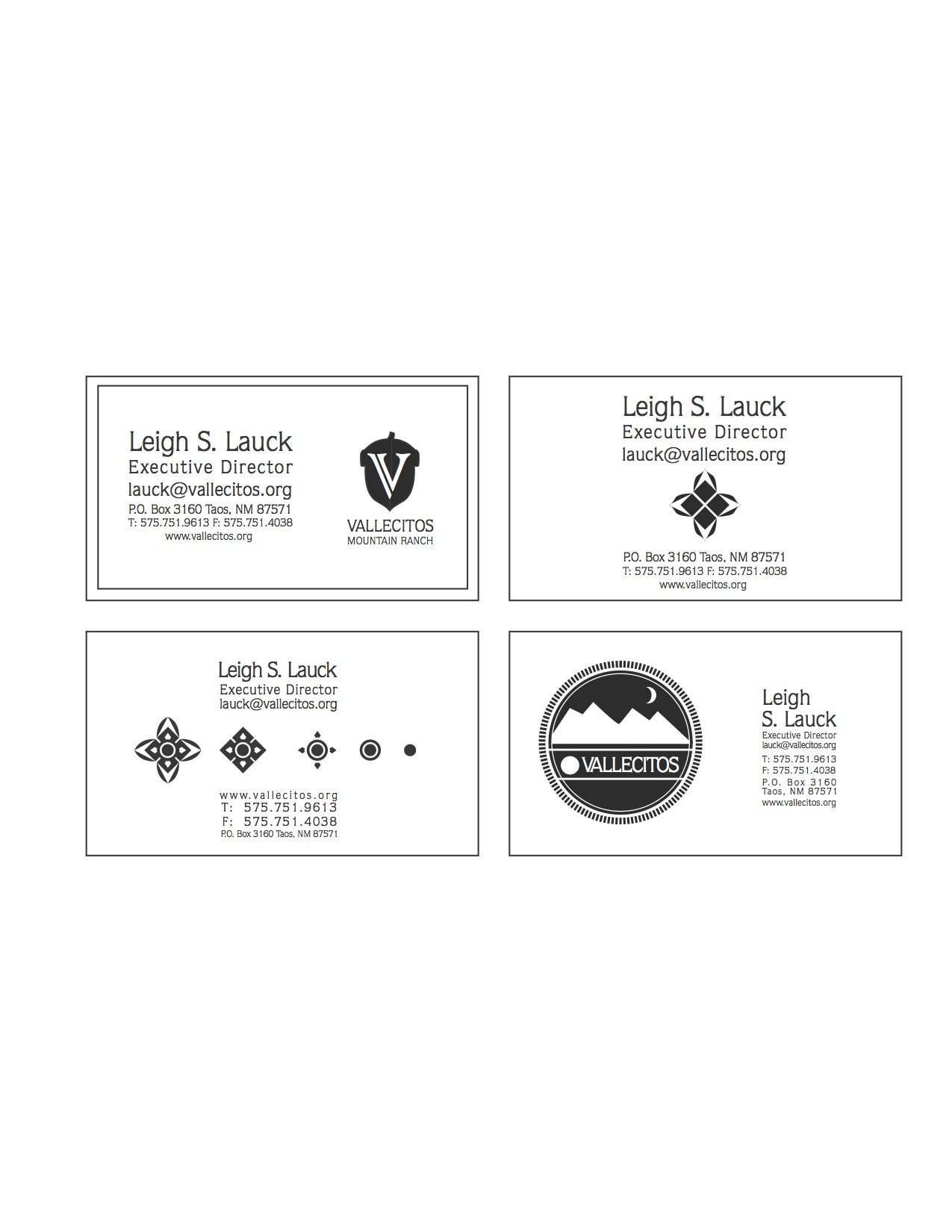 VALLECITOS Business Card Mock up