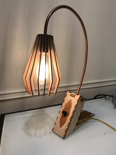 Laser Cut Spline Lamp