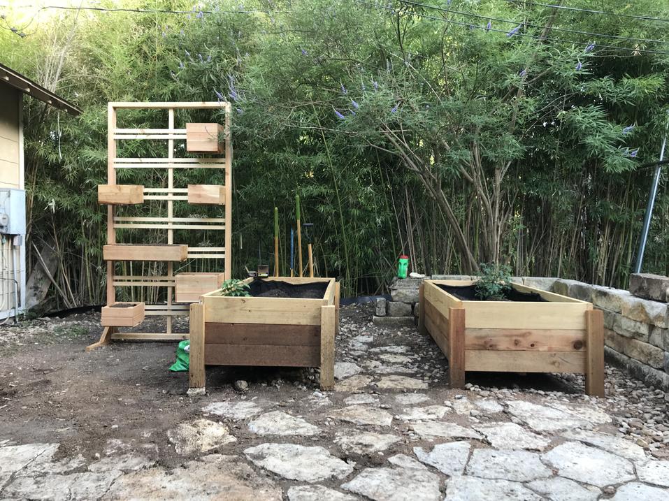 Cedar and Pine Garden Boxes