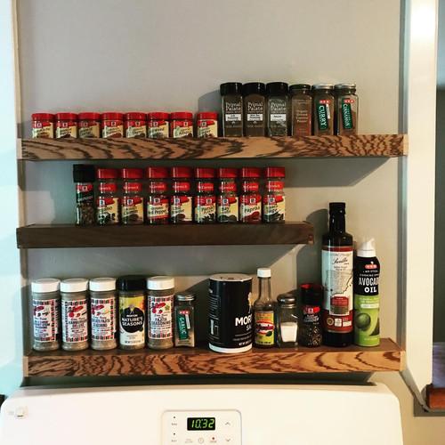 Floating Shelf Spice Racks