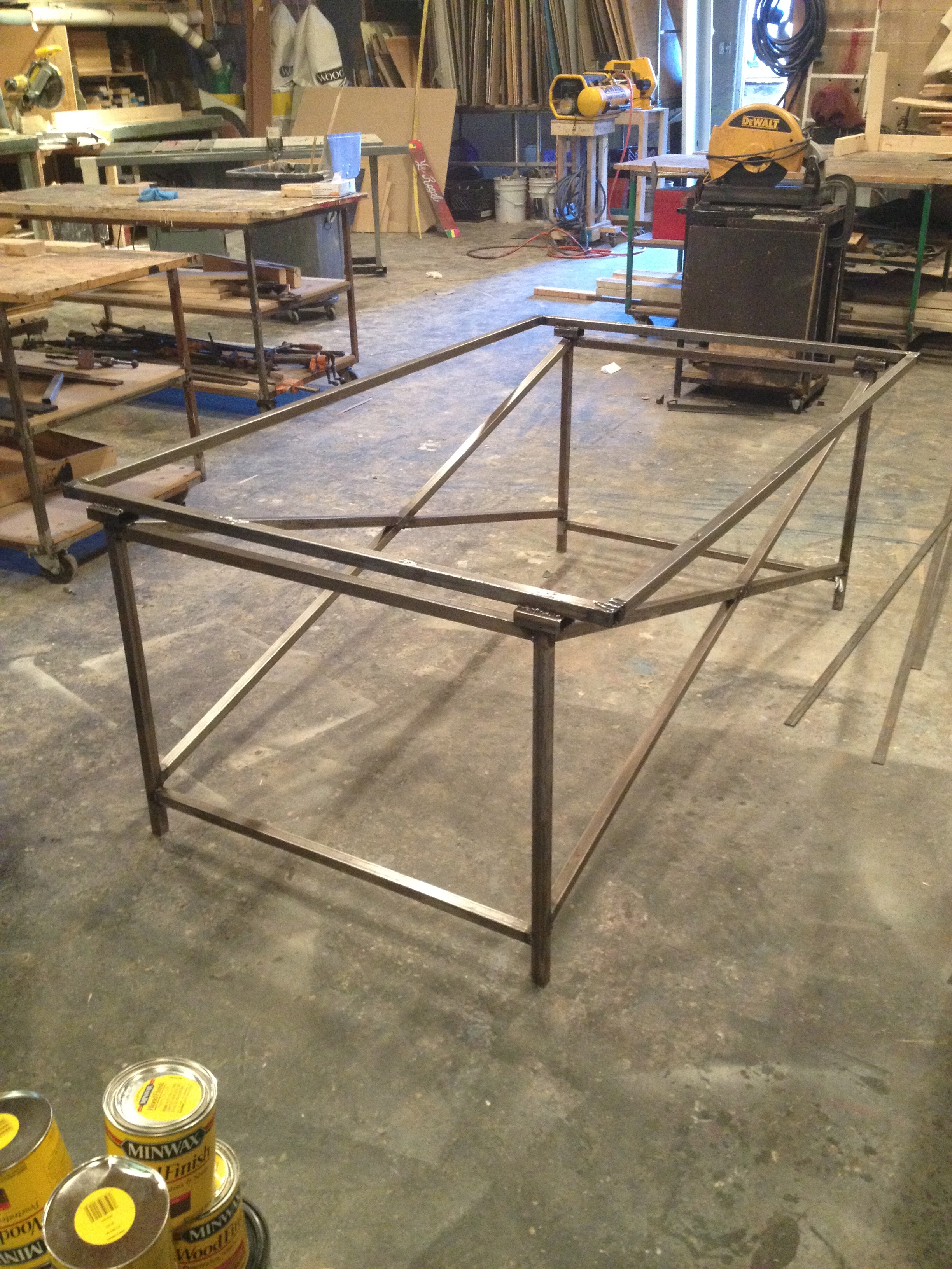 Metal Table for Spring Awakening