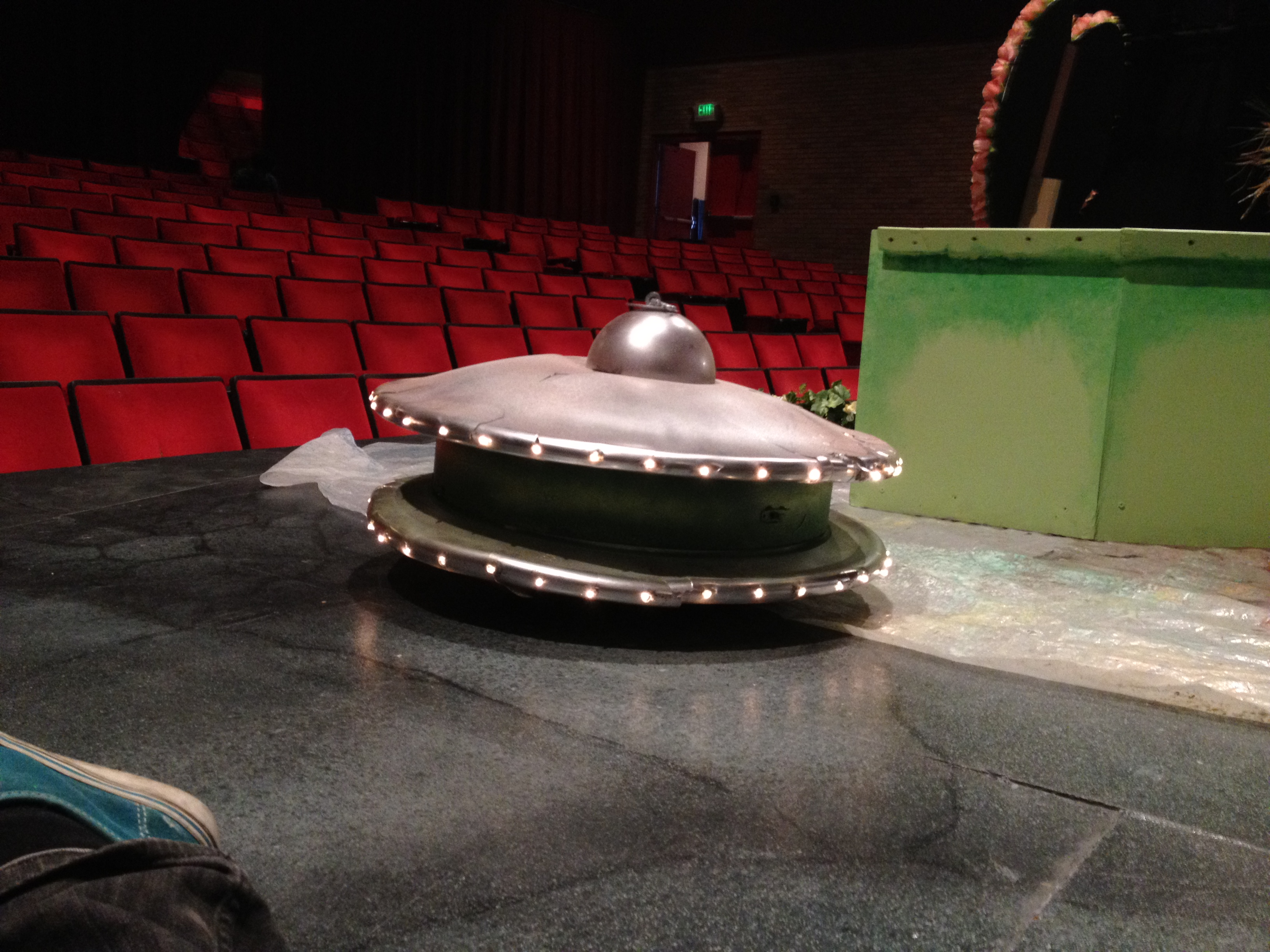 Battery powered LED UFO