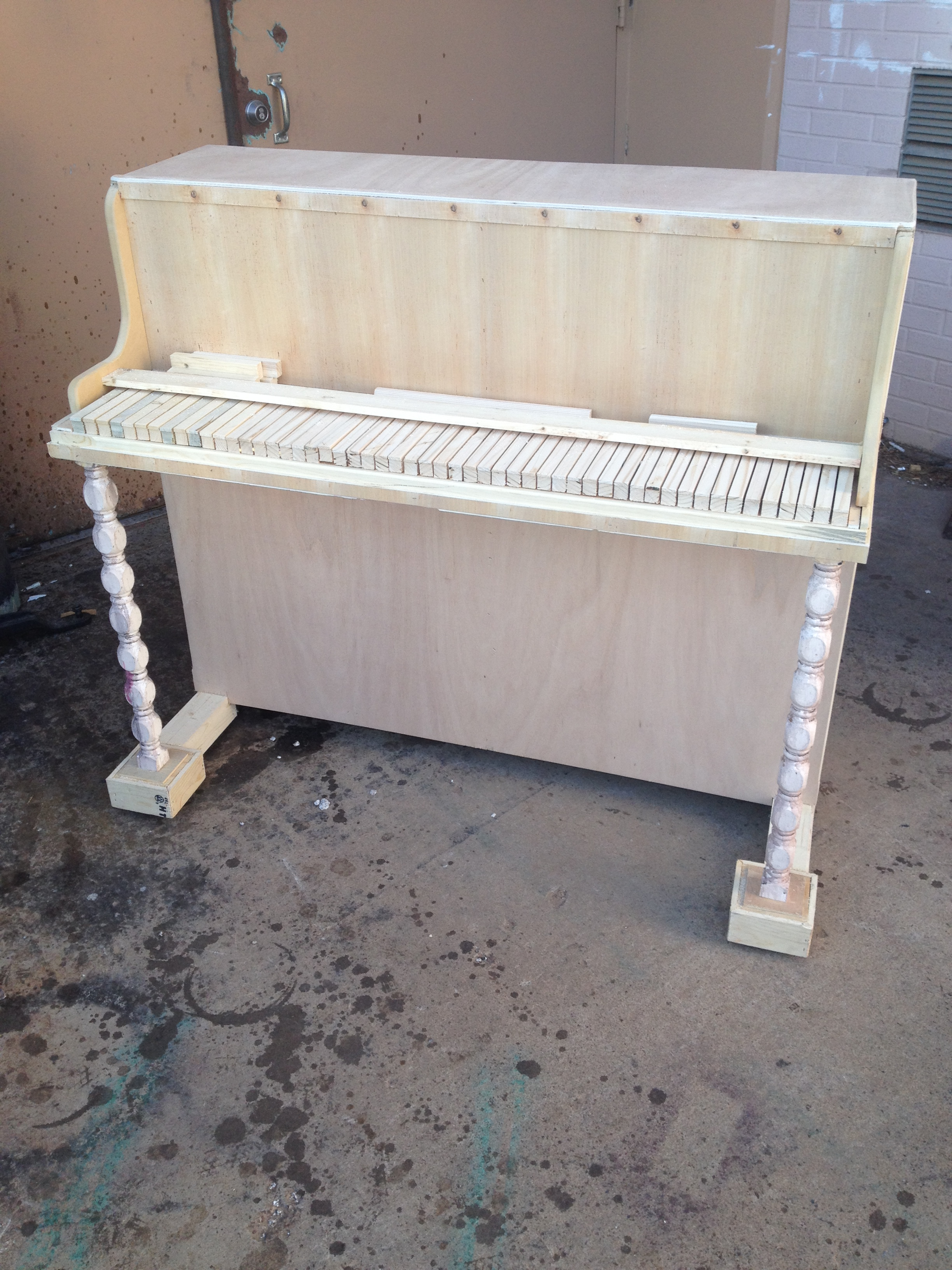 Prop Piano before paint and stain