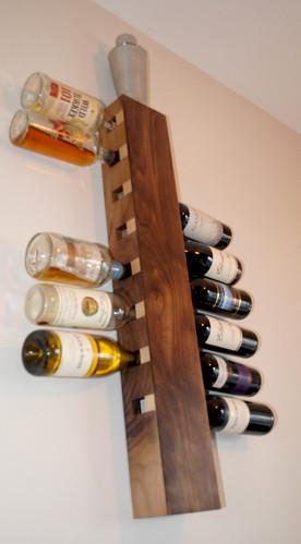 Walnut and Maple Wine Rack