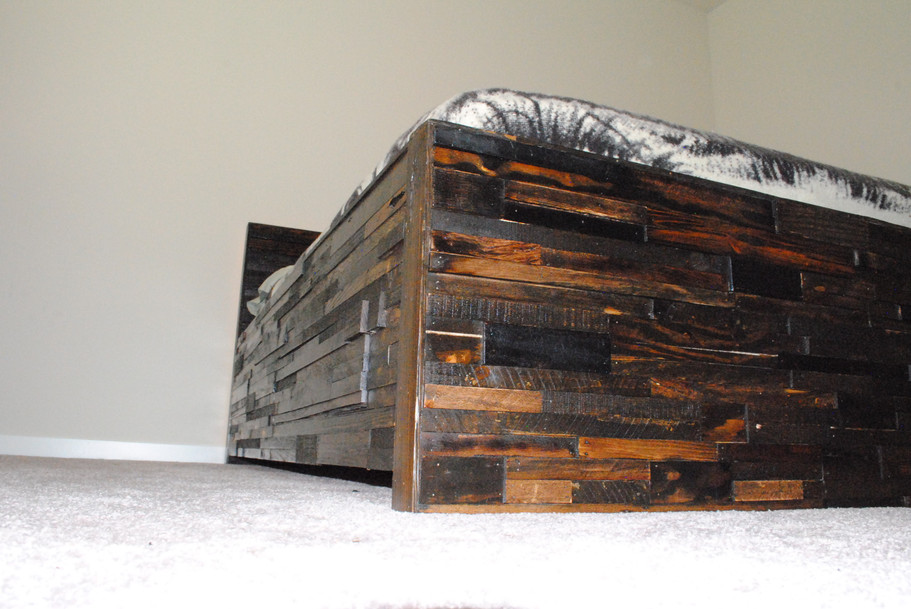 Reclaimed Rustic Contemporary Bed