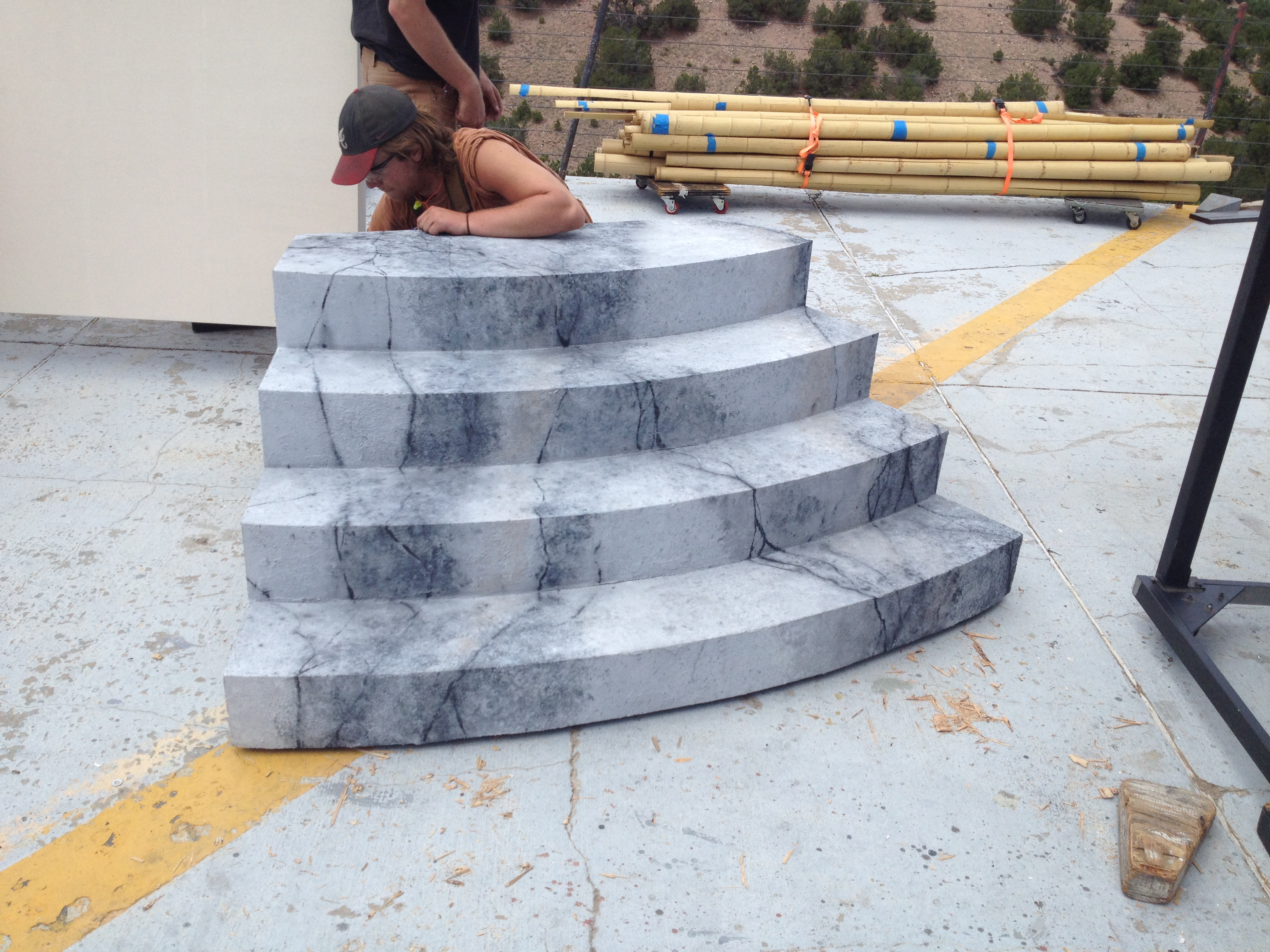 Faux Marble Staircase