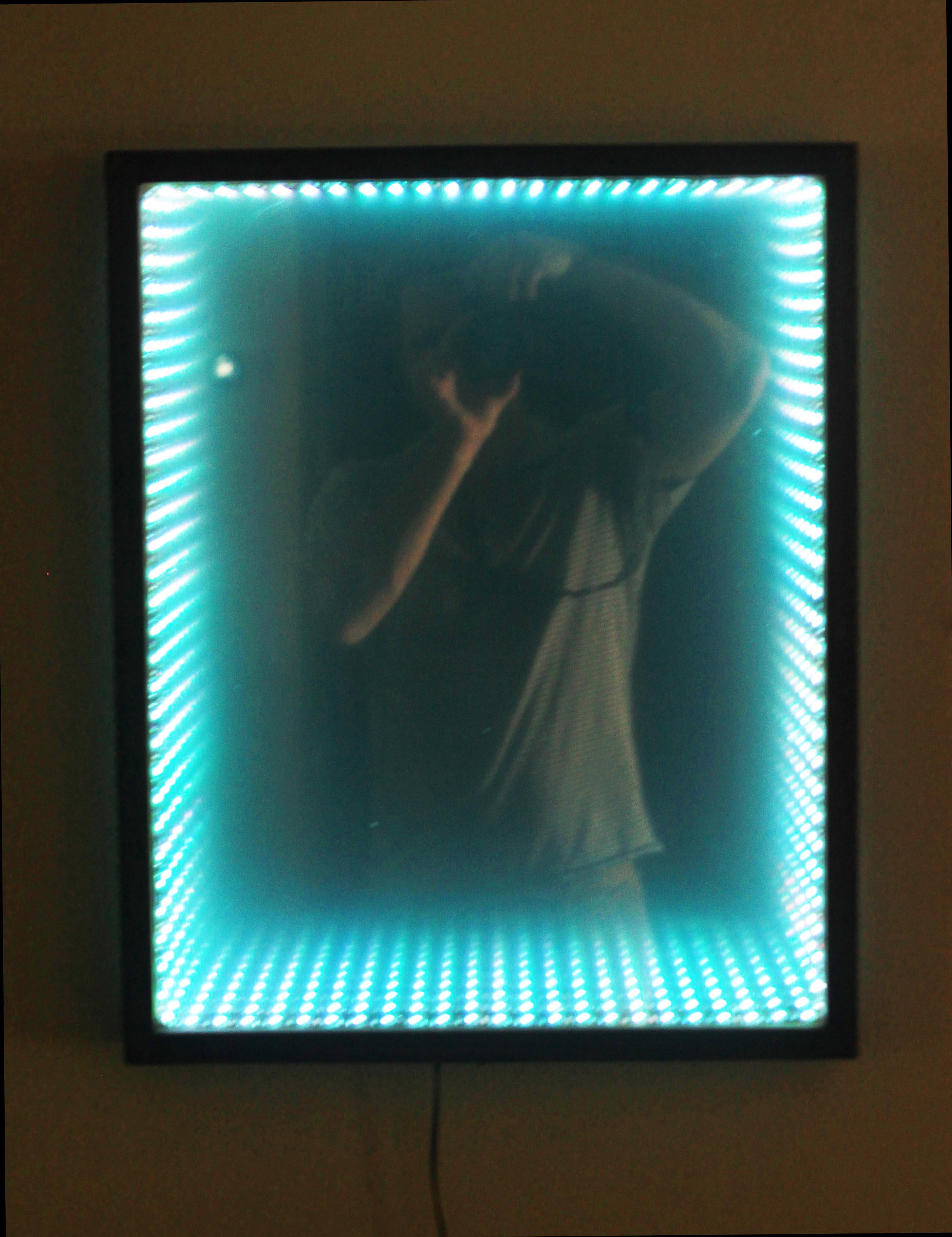 Infinity Mirror in Cyan