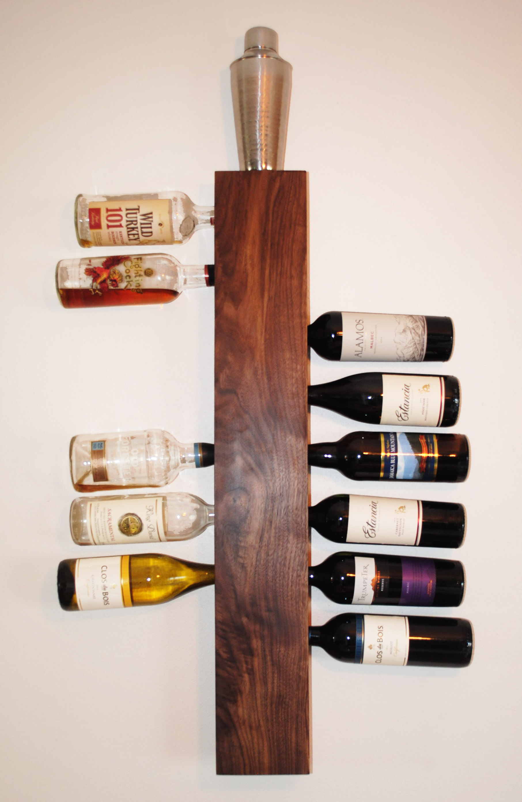 Walnut Wine Rack