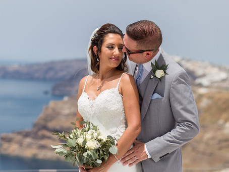 Santorini Gem wedding video - Katie & Gary