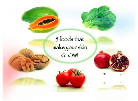 5 foods that make your skin glow!